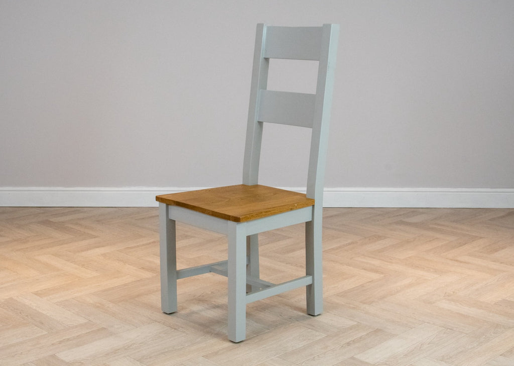 Oakwood Living Grey Painted Oak Dining Chair