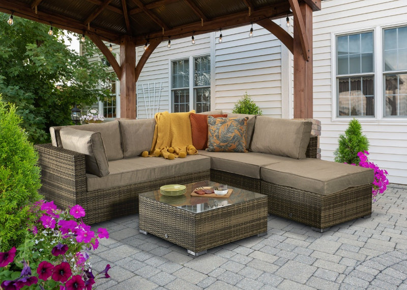 Signature Weave Rattan, Wayfair Rattan, Luxury Rattan, Maze Rattan, Sol 72 Outdoor Rattan Garden Furniture, Rattan Corner Sofa, Rattan Garden Furniture, Brown Rattan Corner Sofa, Rattan Republic, Rattan Corner Sofa Set