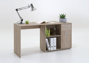 SlumberHaus Lixor Midi Home Office Computer Desk Workstation in Oak