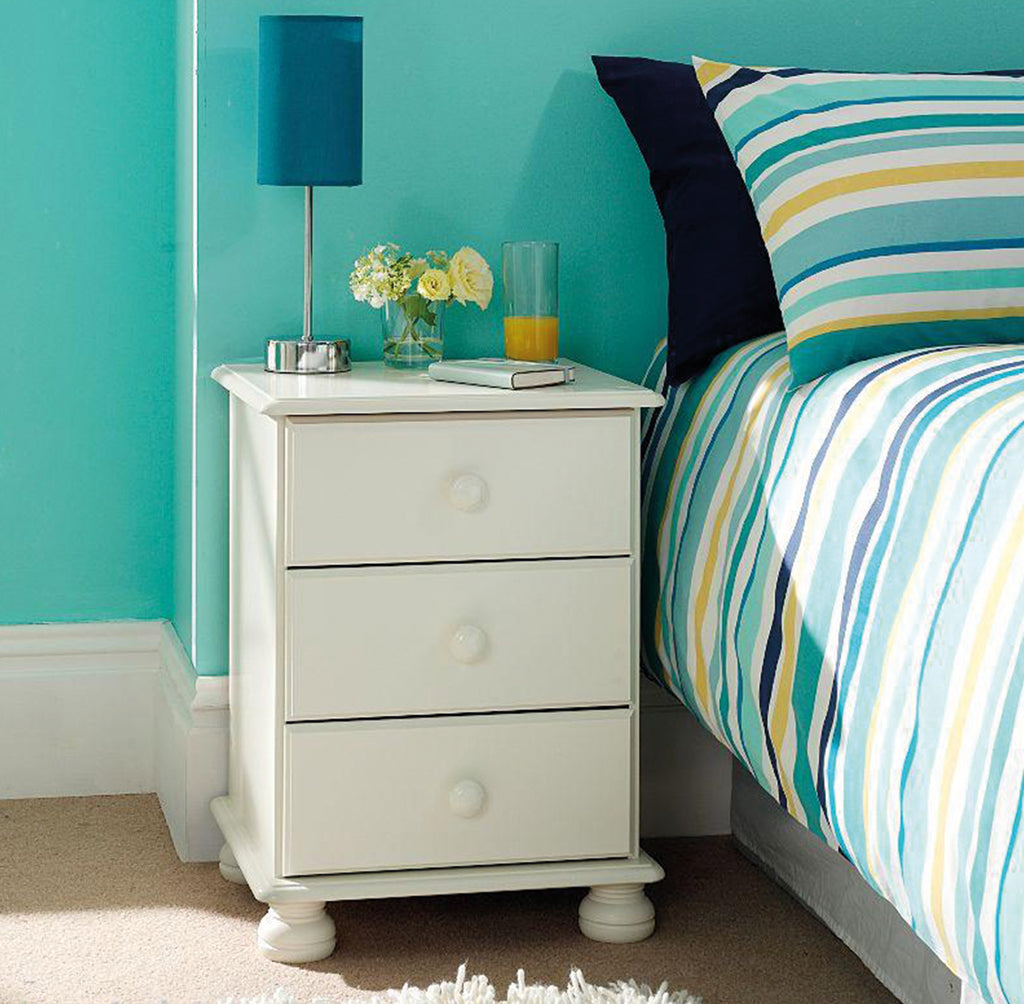 Richmond Bedside Cabinet White