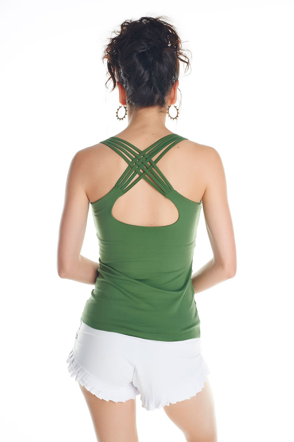 ASANA YOGA TOP WITH FLOWER OF LIFE PRINT