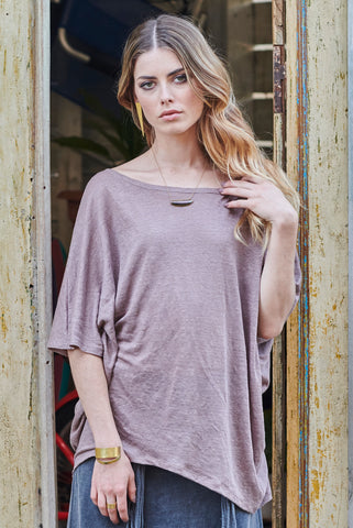ANEX TOP NATURAL LINEN