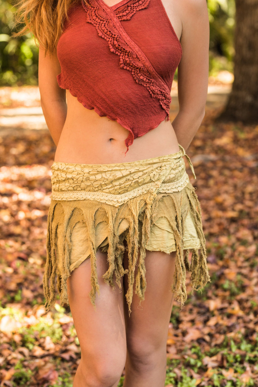 JUNGLE SKIRT IN DESERT BROWN