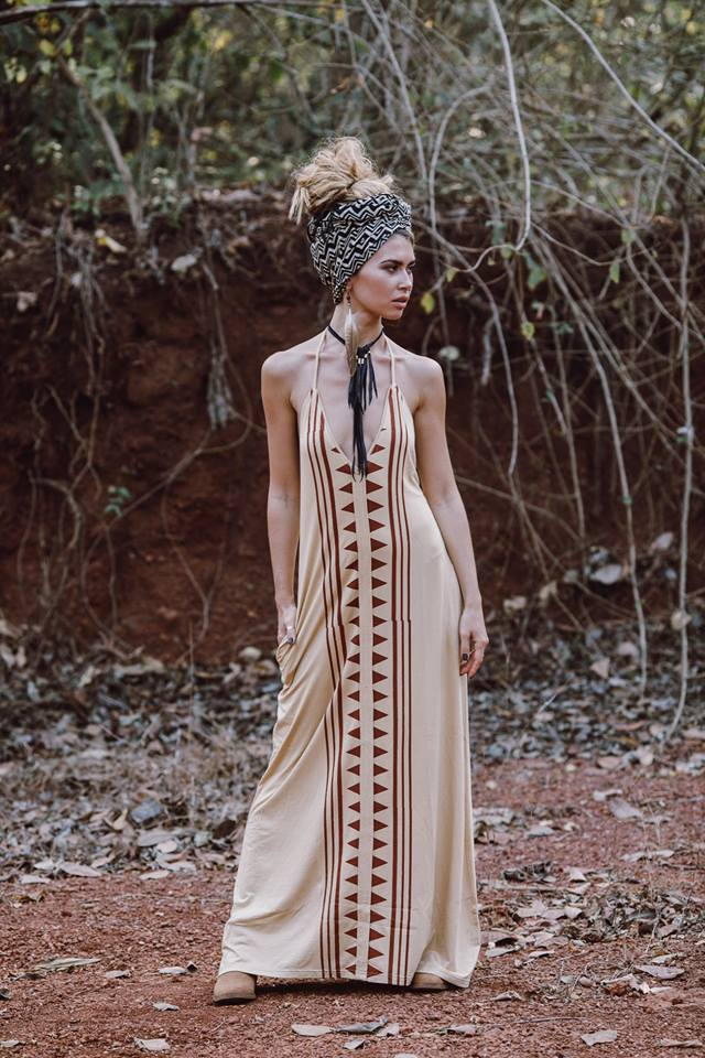 LUNA DRESS DESERT SANDS