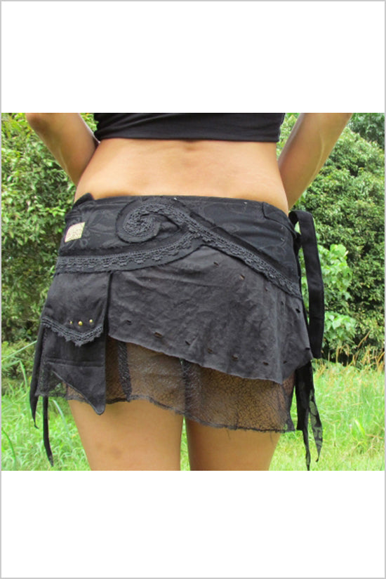 FAIRY WRAP SKIRT BLACK