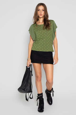 SKY YOGA TOP GREEN