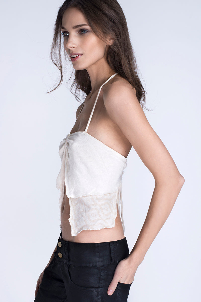 BUTTERFLY TOP WHITE
