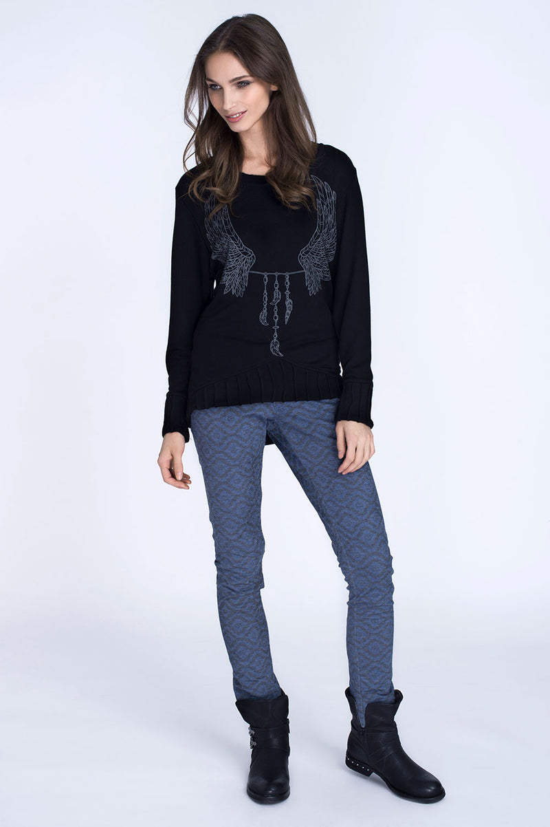 WINGED LONG SLEEVE TOP