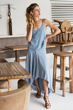 CAMI TOP BLUE