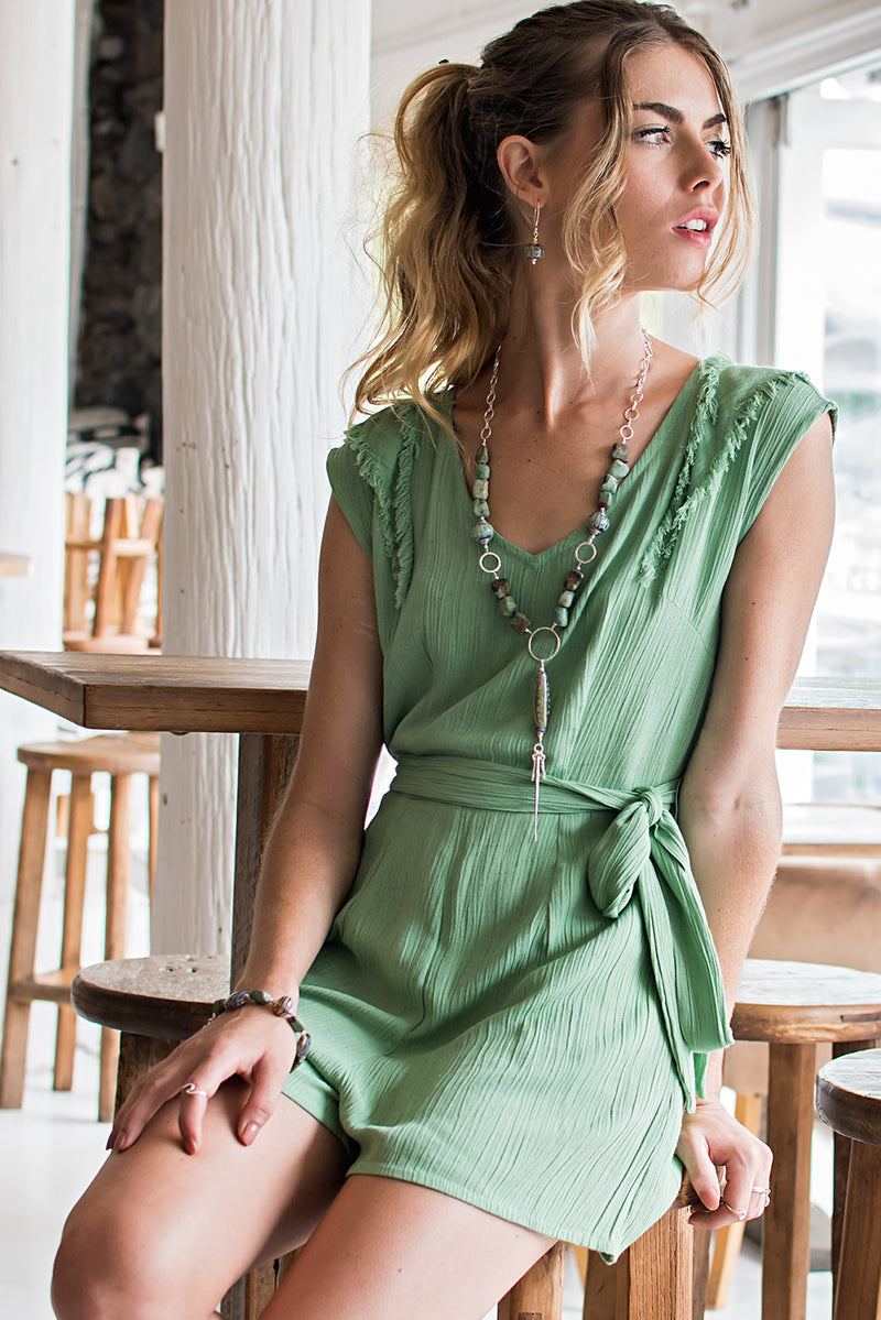 ESTONIA ONESIE-SMOKY GREEN