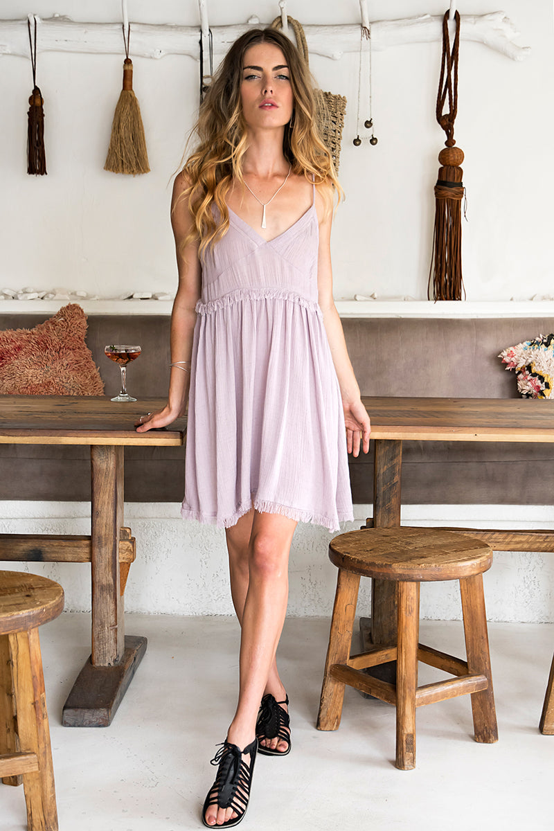 CARMEN DRESS LAVENDER
