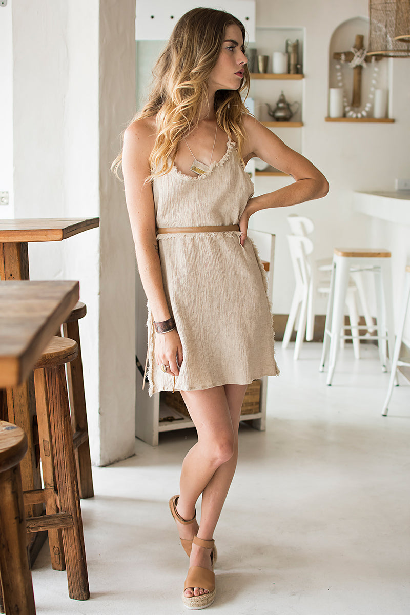 MINI LEADER DRESS CREAM