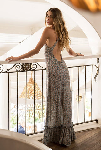 """ La Dolce Vita "" LONG WRAP DRESS"