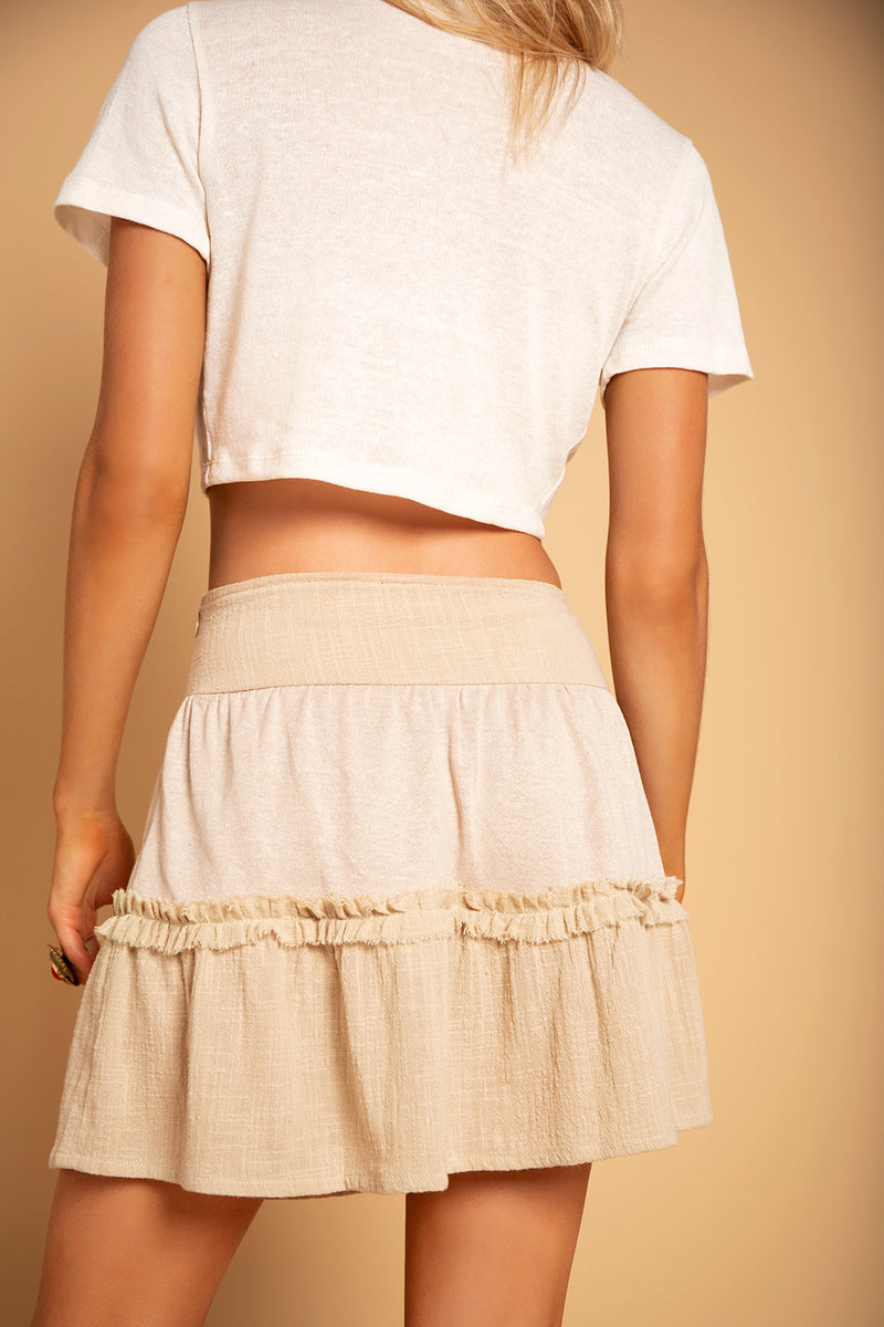 TRY SKIRT BEIGE
