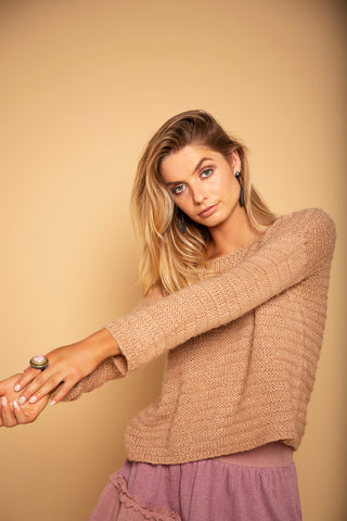 KNIT JUMPER MAUVE