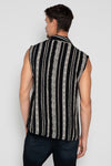 FEATHER SUNRISE SLEEVELESS BLACK