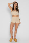 GEORGY KNIT SHORT CREAM