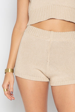 GEORGY KNIT SHORTS CREAM