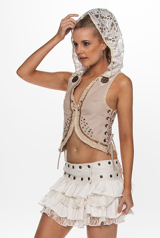AZAREL HOODED VEST
