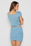 LINEN HILL TOP BLUE