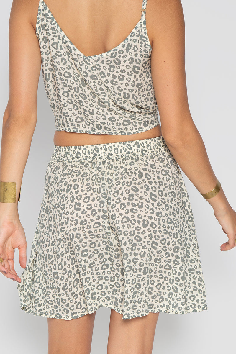 ROCKY SKIRT WITH LEOPARD PRINT