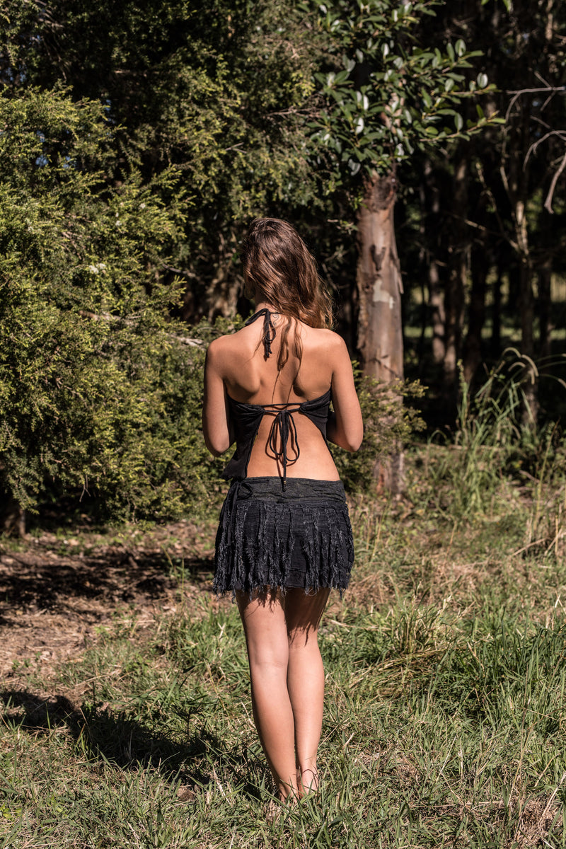 JUNGLE SKIRT IN BLACK