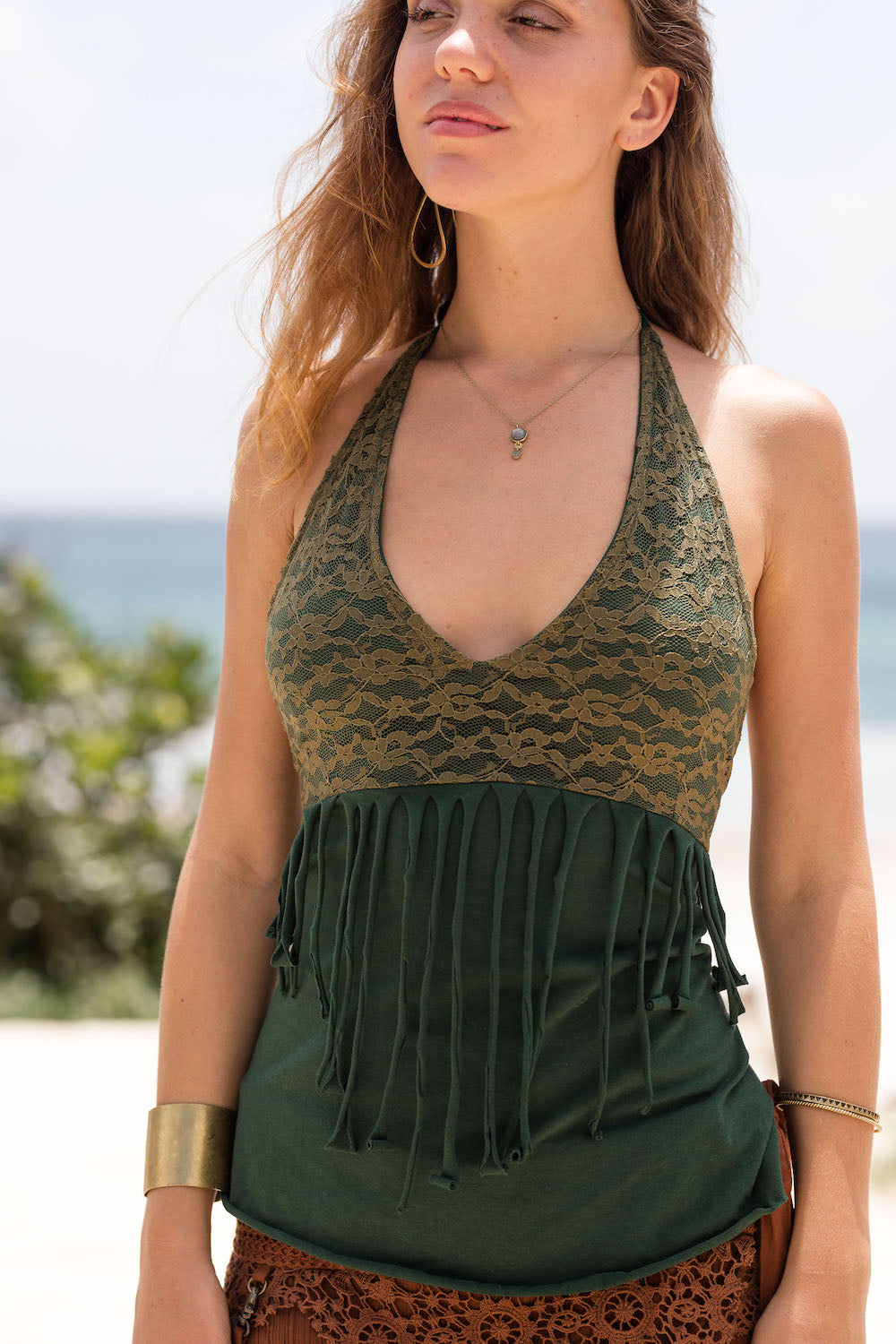 FREE SPIRIT TOP in GREEN