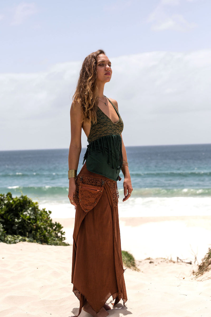 FOREST GYPSY SKIRT in BROWN