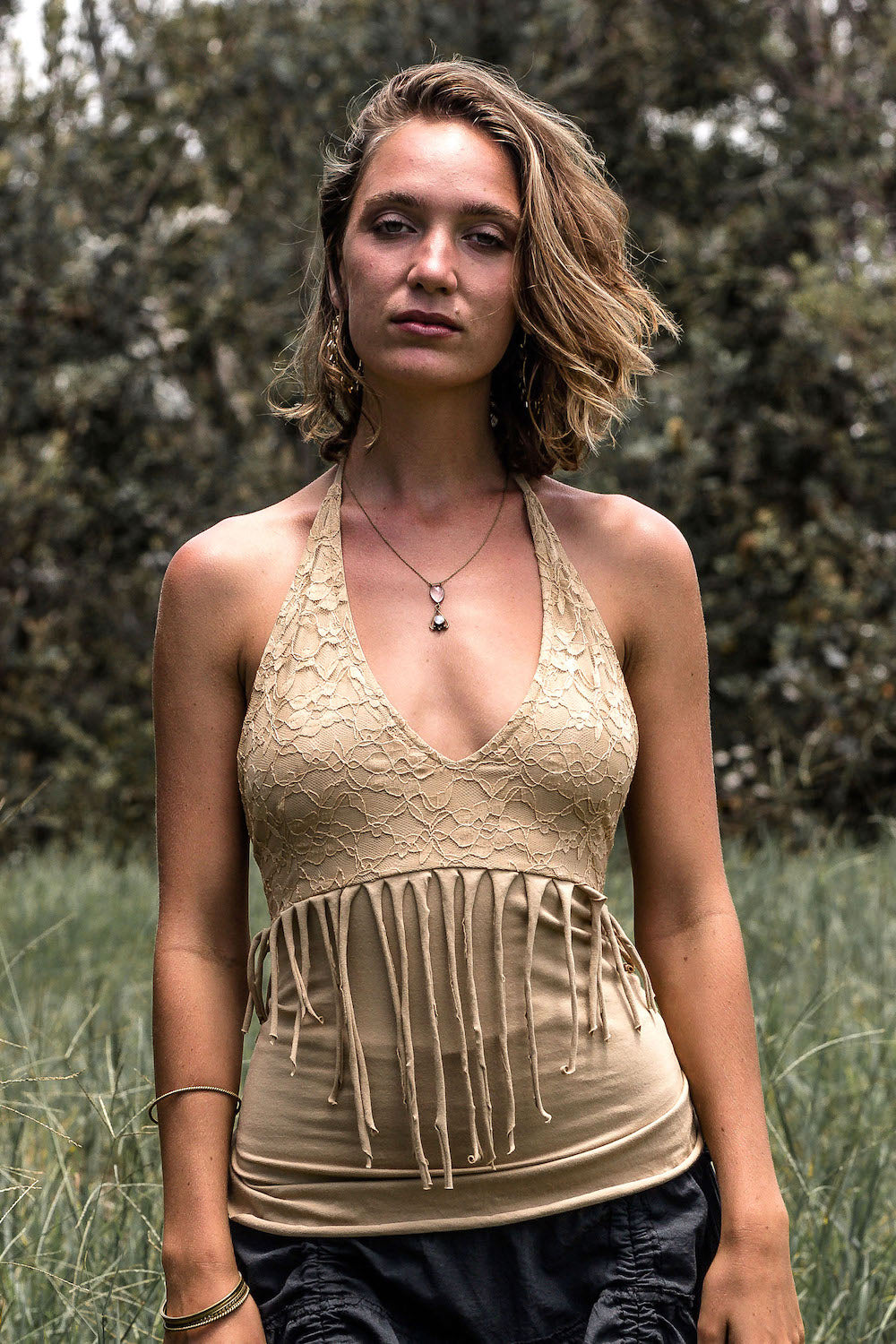 FREE SPIRIT TOP in BEIGE