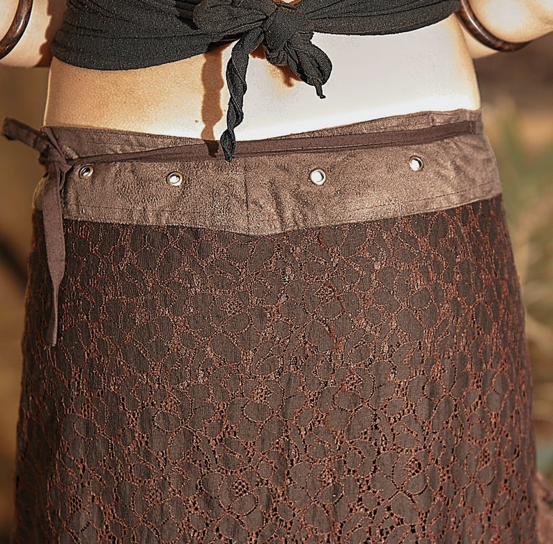 GAIA SKIRT RMX BROWN