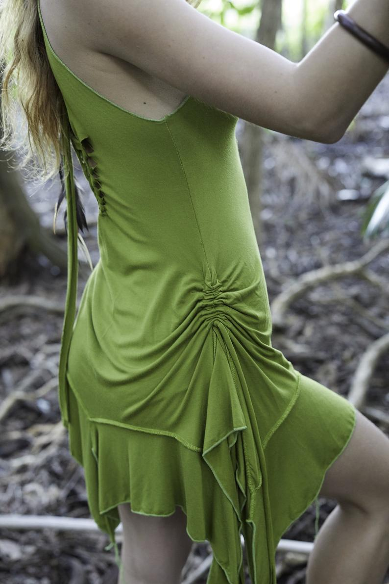 PIXIE DRESS IN LIGHT GREEN
