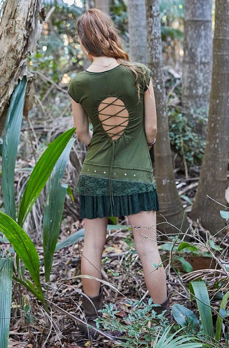 FRANGIPANI FAIRY DRESS OLIVE
