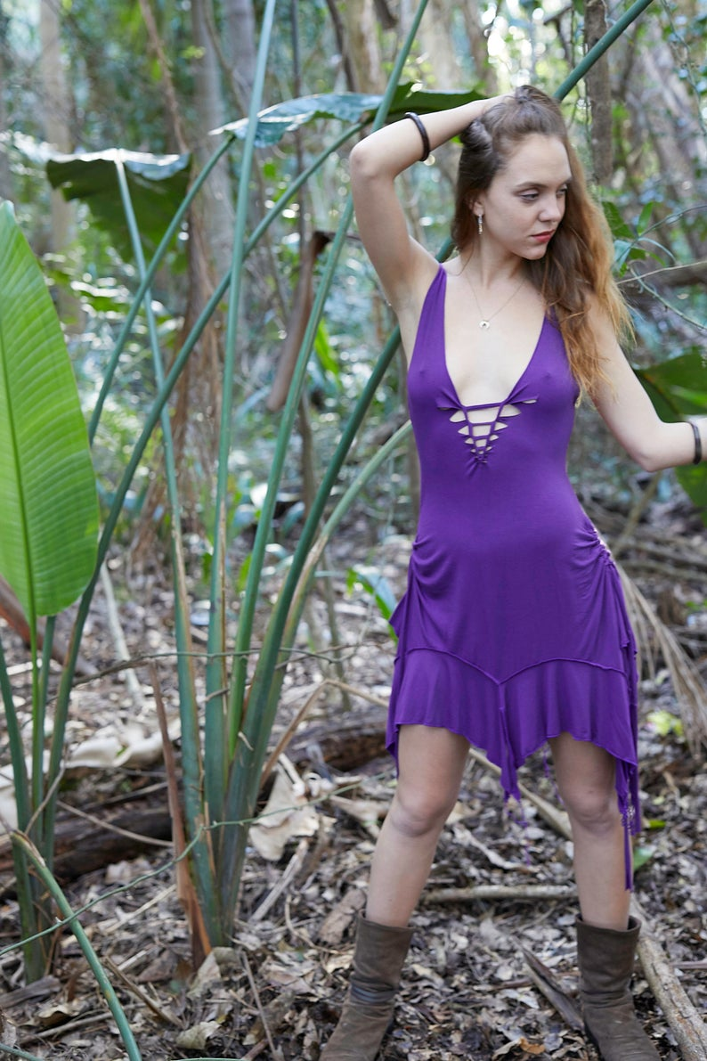 PIXIE DRESS IN PURPLE