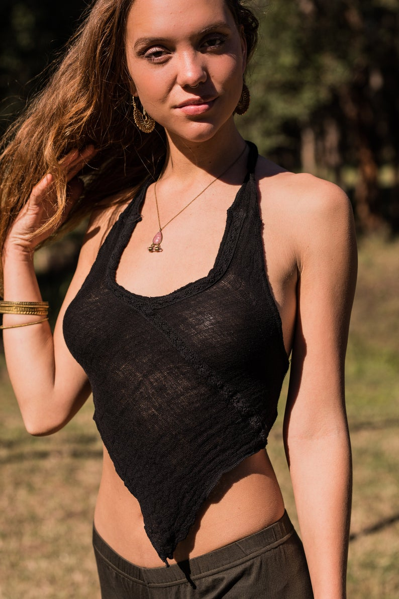 FRIENDS OF THE FOREST TOP in BLACK