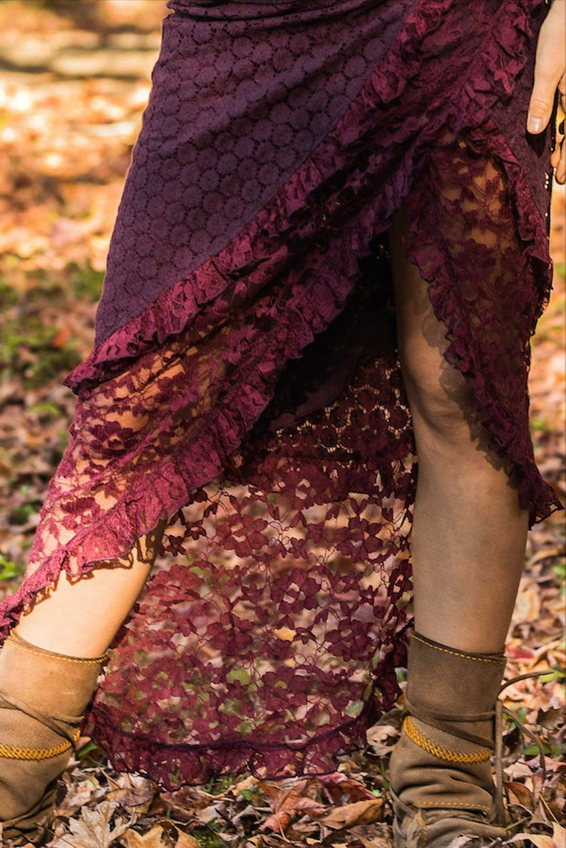 GAIA SKIRT RMX IN PURPLE