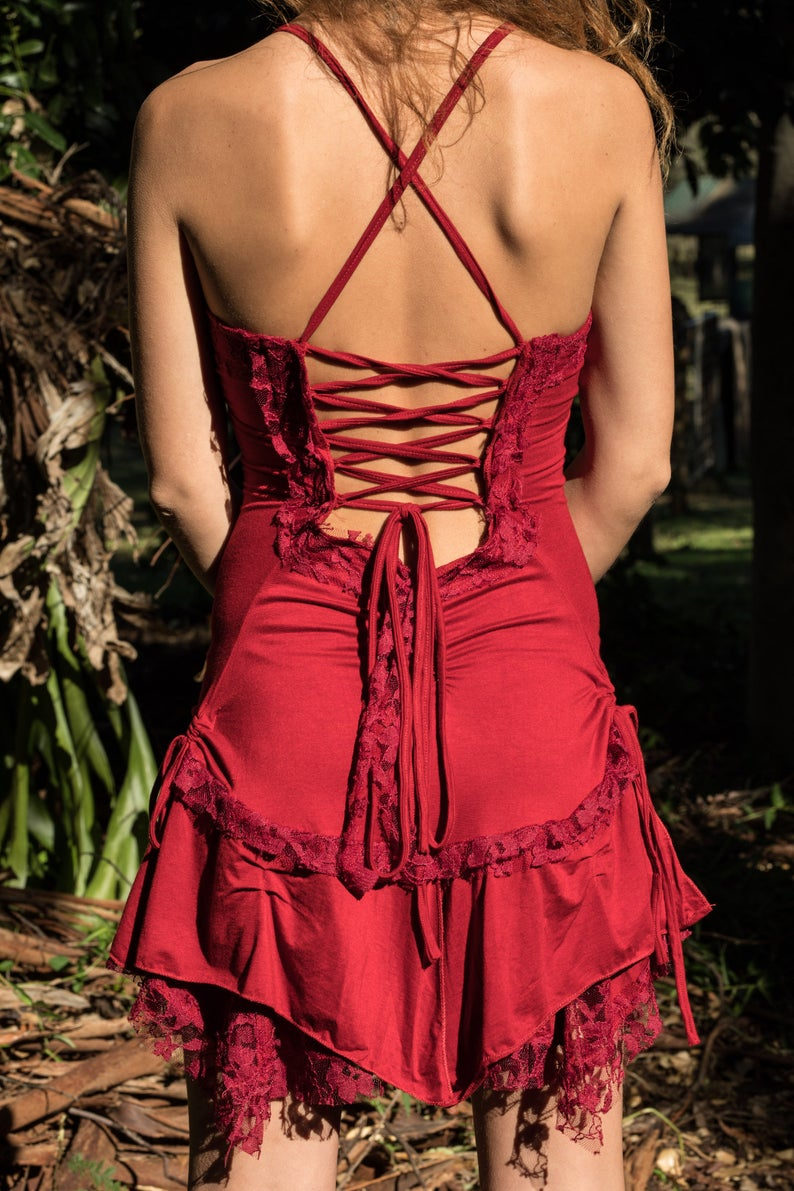 GYPSY PIXIE DRESS IN RED
