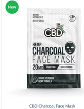 Load image into Gallery viewer, CBDFx Hemp Charcoal Face Mask 20mg