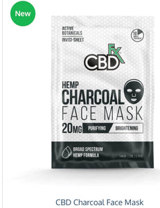 CBDFx Hemp Charcoal Face Mask 20mg