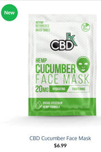 Load image into Gallery viewer, CBDFx Cucumber Face Mask