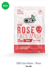 Load image into Gallery viewer, CBDFx Hemp Rose Face Mask 20mg