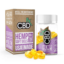 Load image into Gallery viewer, CBDfx Hemp Soft Gel Capsules 750mg 30ct