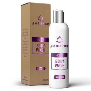 Ambience Body Wash 100ml Made with premium CBD from nautural hemp extrat. This sensational shower jel will leave you feeling hydrated,and add to your sense of wellness. Ambience CBD body wash is enriched with a beatifully smelling formulation which will leave your skin smelling great.
