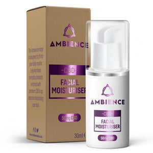 Ambience CBD  Facial moisturise is the most perfect way to deliver CBD to your face. Using premium CBD in this easy to use format,this facial cream is easily absorbed,light on the skin and it helps to hydrate your skin.