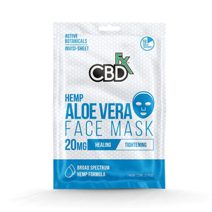 CBDfx Aloe Vera Face Mask 20mg Broad Spectrum