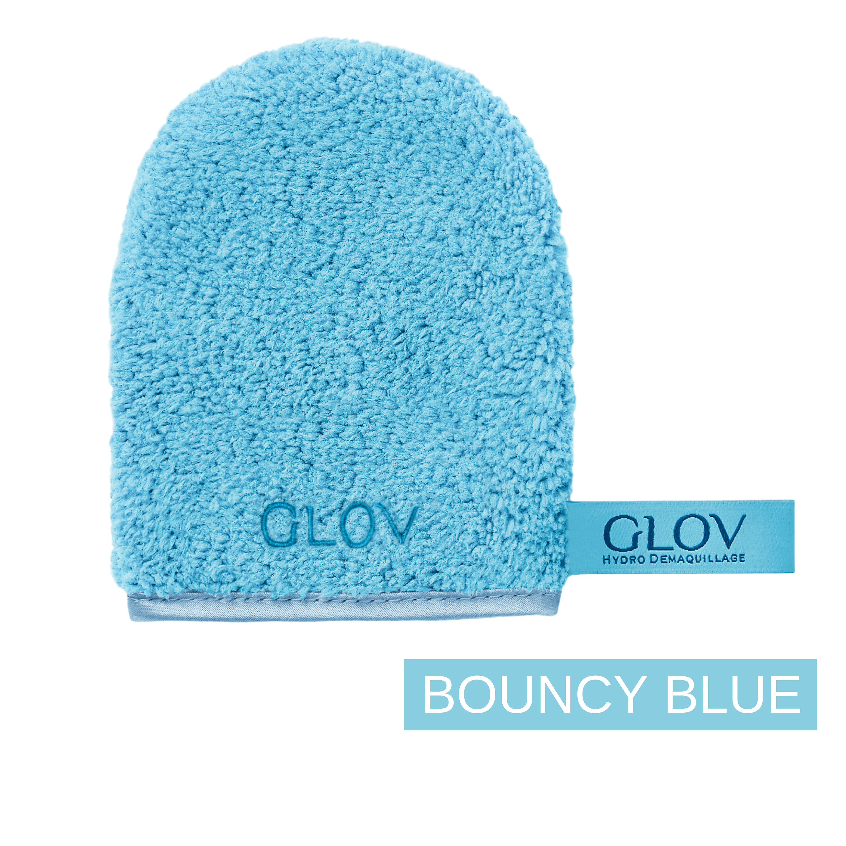 glov.gr, glov makeup remover only with water for all skin types, bouncy blue