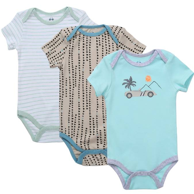 Asher and Olivia Short Sleeve Bodysuit Set
