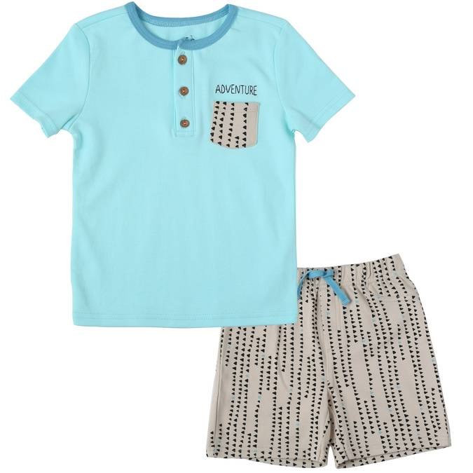 Asher and Olivia Tee and Short Outfit Set