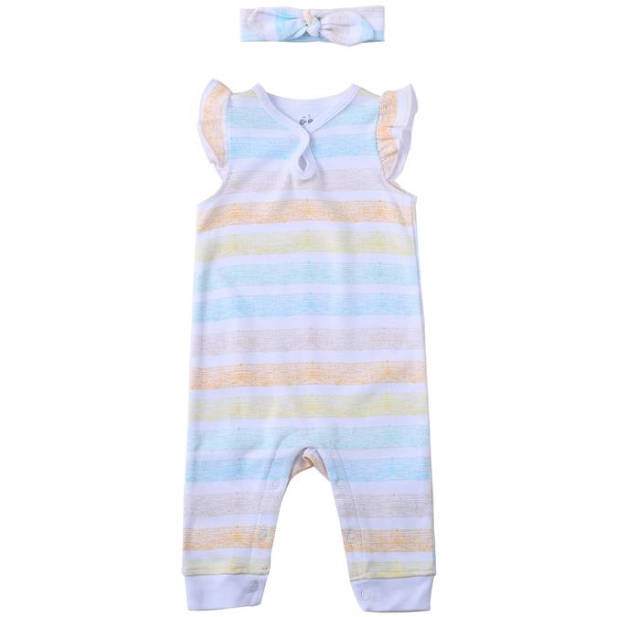 Asher and Olivia Romper with Headband
