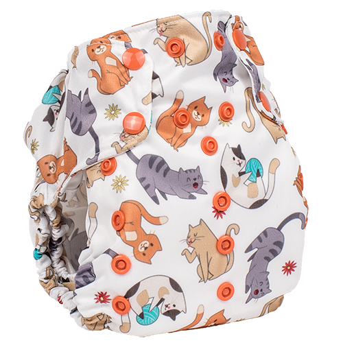 One Size Too Smart Cloth Diaper Cover Felix