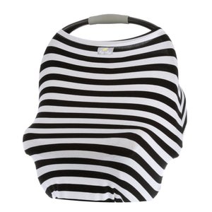 Itzy Ritzy Mom Boss Black and White Stripe 4 in 1 Cover